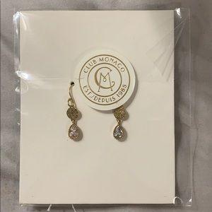 Club Monaco crystal disk earring - brand new!